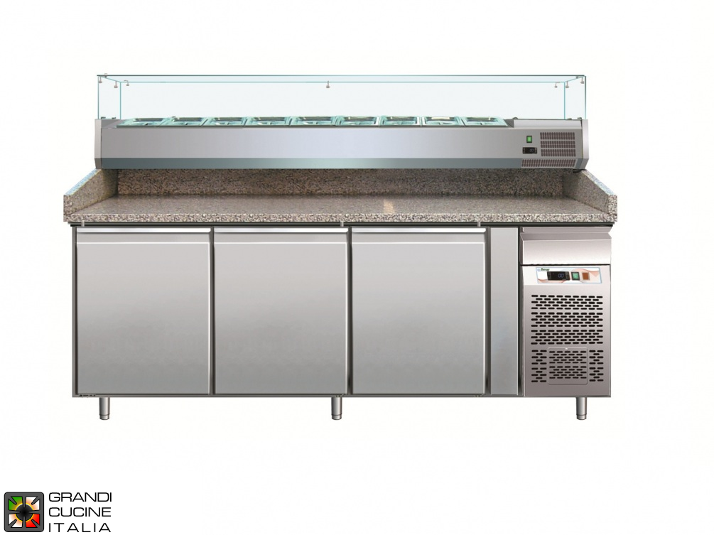 Refrigerated counters for pizza