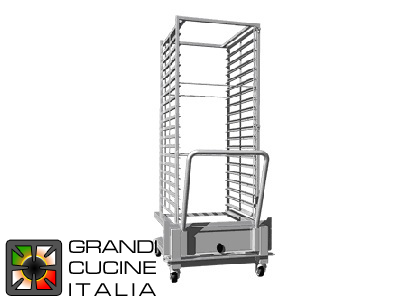 Tray Trolley - Maximum Capacity 16 Trays EN 60x40
