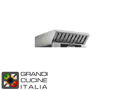 Hood with steam condenser (Only for electric ovens) for Compact GN2\3 Model