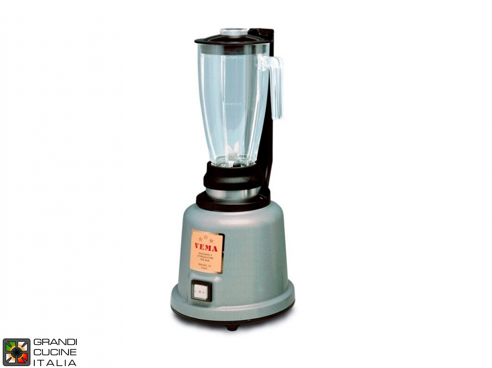 Mixer Blender - Capacity 1,2 liters - Transparent jug - Metallized synthetic body - 2 speed