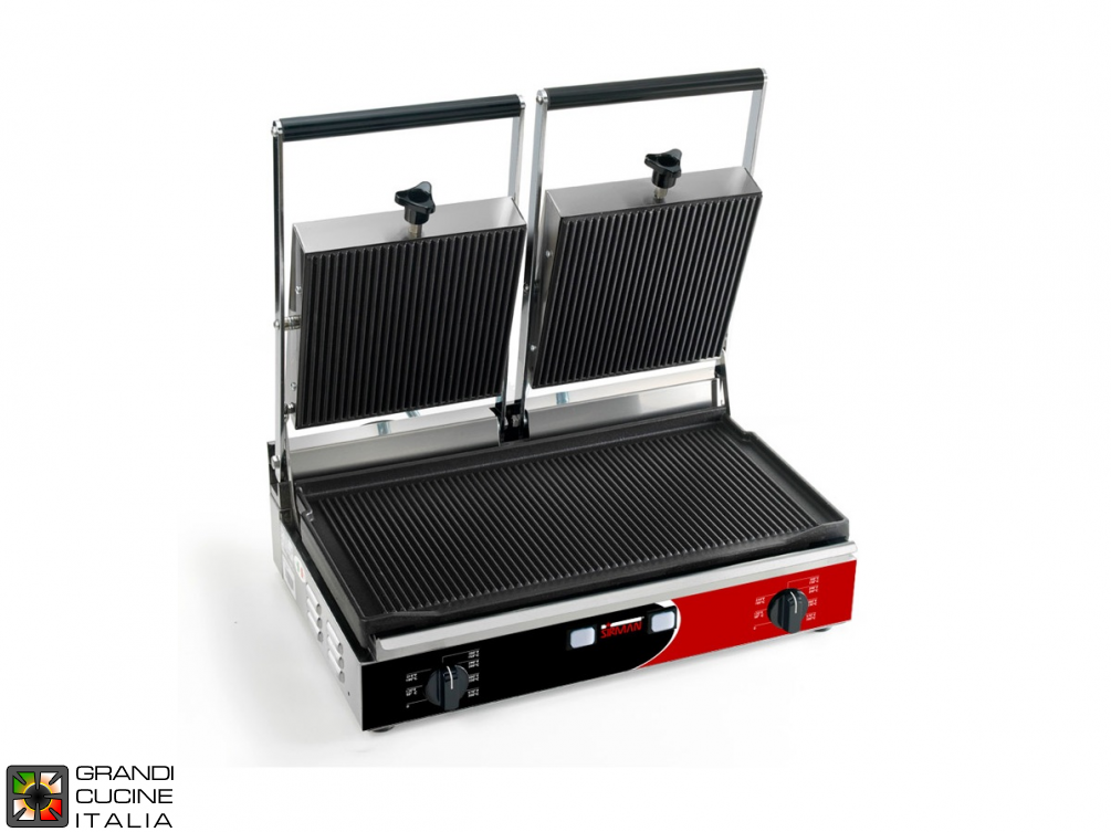Double sandwich grill 3000W - Smooth