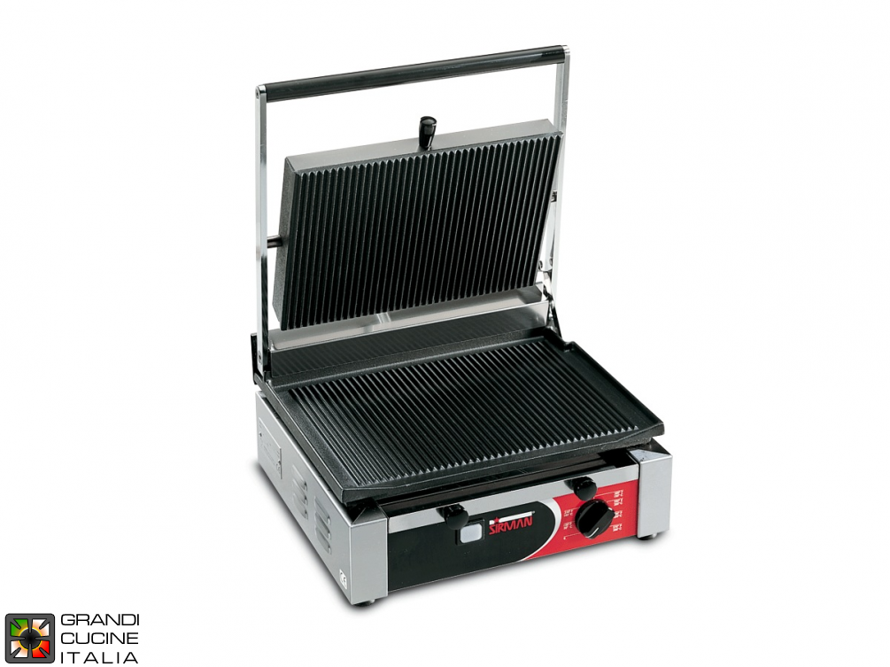Medium sandwich grill CORT L 2100W - Smooth Plate - Grooved Top