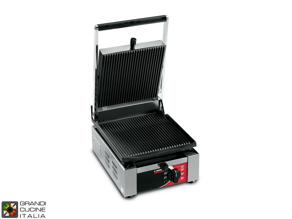 Small sandwich grill ELIO 1550W - Smooth Plate - Grooved Top