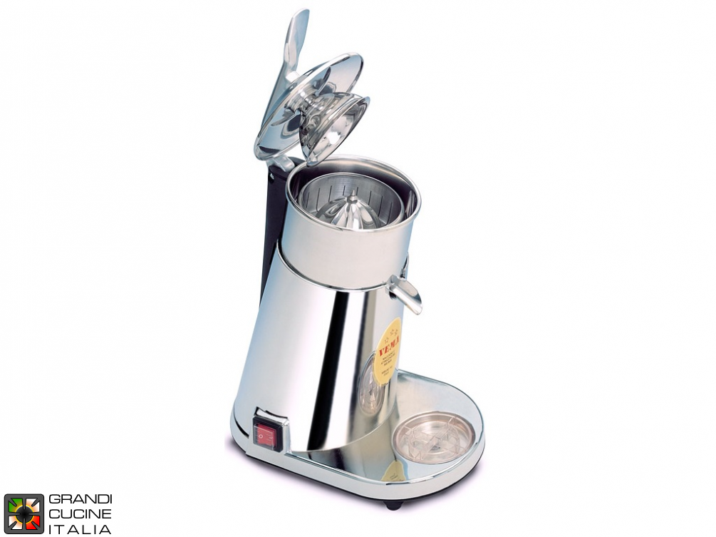 Automatic  citrus sqeezer metallized body, stainless steel cone