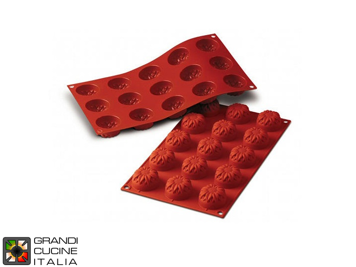 Stampo in silicone alimentare per N°15 Small Sunflower Ø44x27h mm - SF072