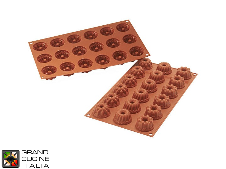 Stampo in silicone alimentare per N°18 Mini Fantasy Ø40x22h mm - SF132