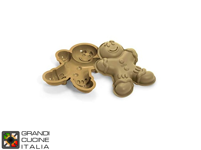 "Tortiera  in silicone alimentare ""Mr. Ginger"" 255x195x42h mm - SFT325"