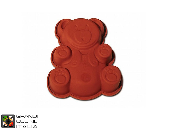 Tortiera in silicone alimentare per Baby Teddy Bear 133x158 h 30 mm - SFT812