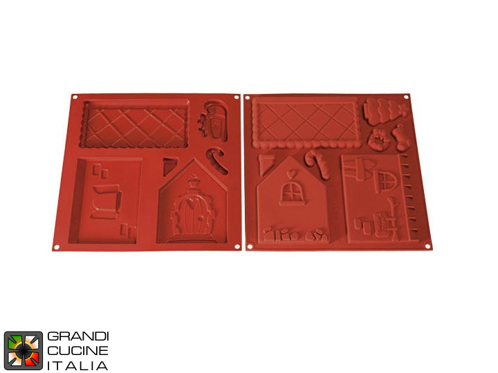 "Tortiera  in silicone alimentare ""Home Sweet Home"" 180x115x160h  mm - HSH01"