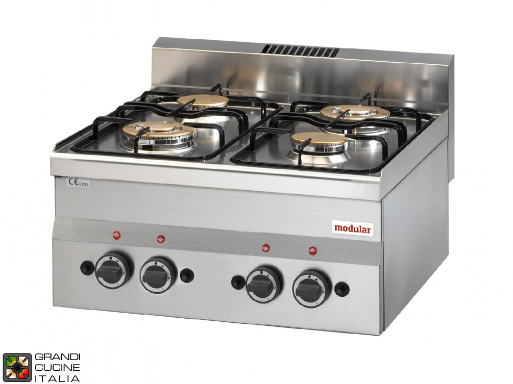 4 Max powered gas burners boiling unit