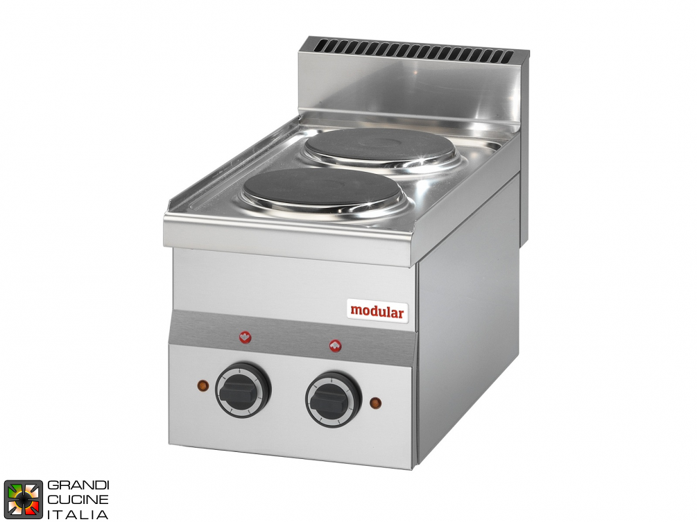 2 Max powered electric plates boiling unit - 230V