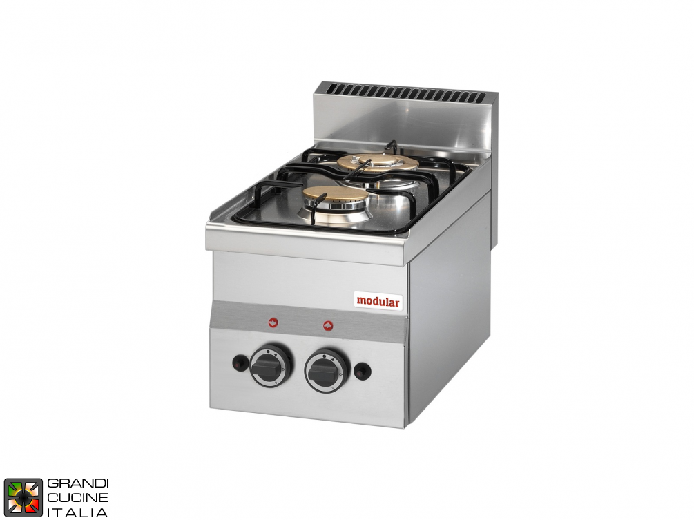 2 Max. powered gas burners boiling unit