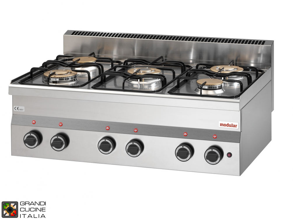Gas boiling unit - 5 burners