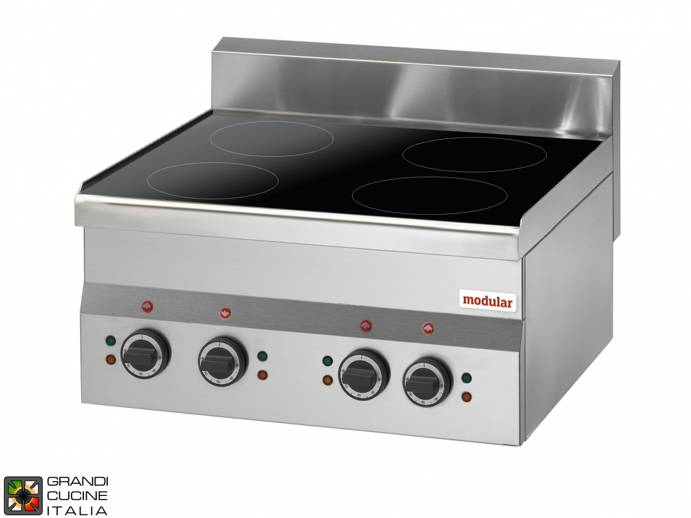 Electric ceramic-glass boiling top - 400V