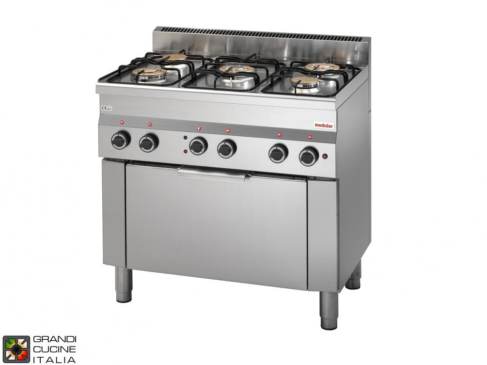Cucina a gas 5 fuochi potenziata