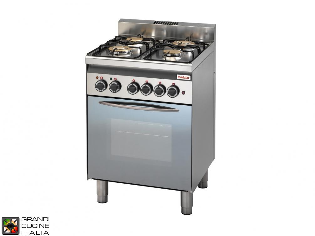 Cucina A Gas 4 Fuochi Con Forno A Gas