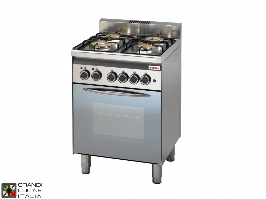Gas range 4 burners with electric oven