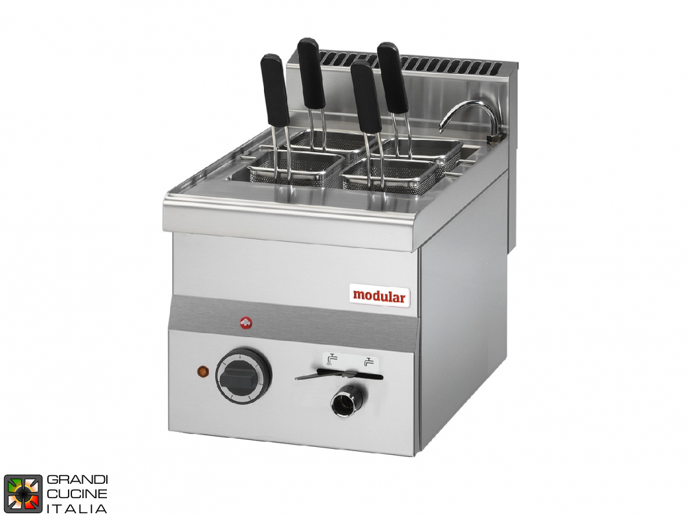 Electric pasta cooker, 1 well - capacity 14 Lt
