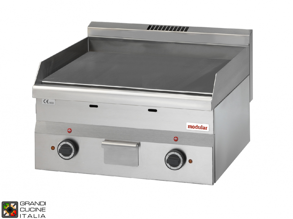 Electric FryTop - smooth plate - 230V