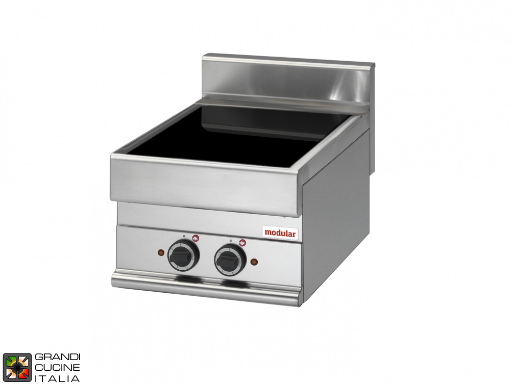 Electric ceramic-glass boiling top - cooking zones