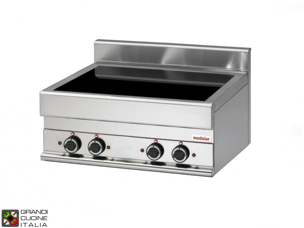Electric ceramic-glass boiling top - 4 cooking zones