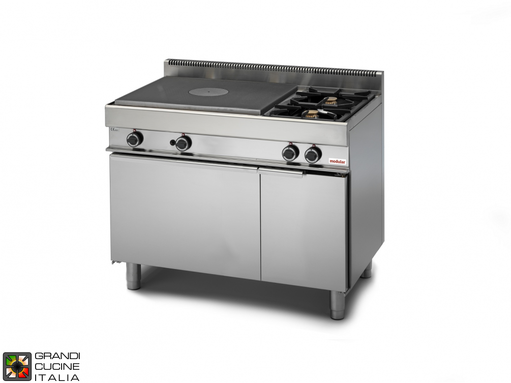 Gas solid top - 2 burners -  gas oven - neutral cabinet