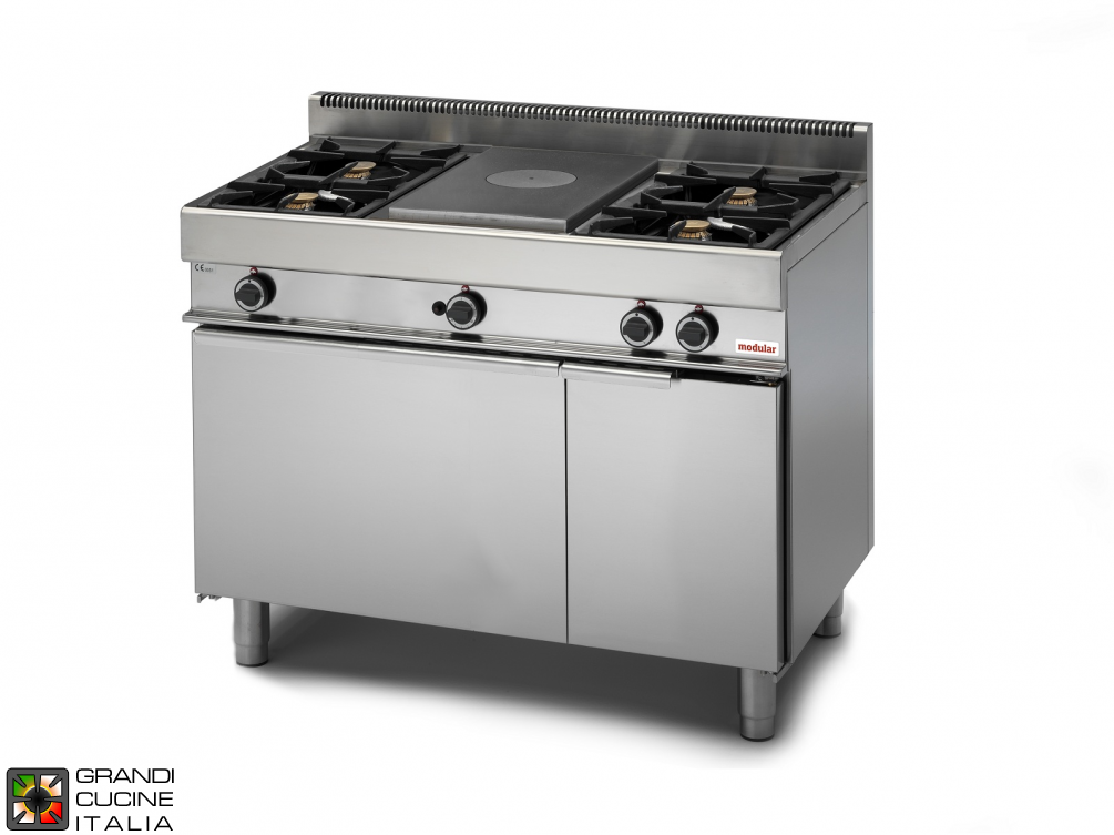 Gas solid top - 4 burners  - gas oven