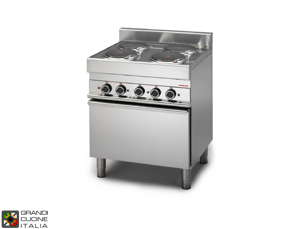 Electric range, 4 plates, electric convection oven