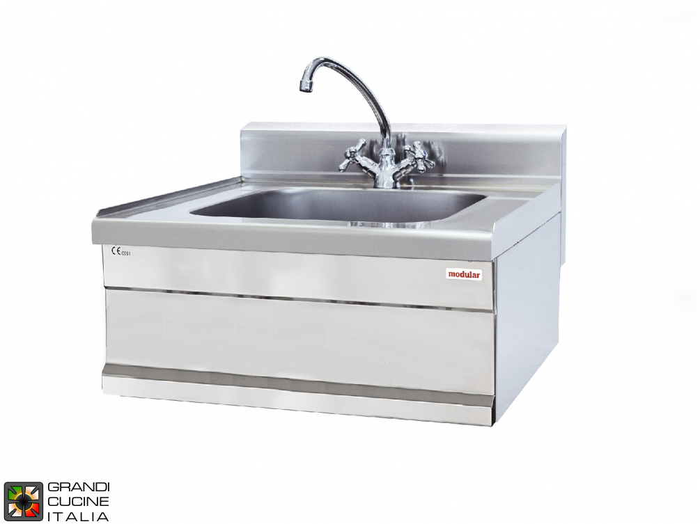 Sink unit, bowl dim. 50x40x15 h cm