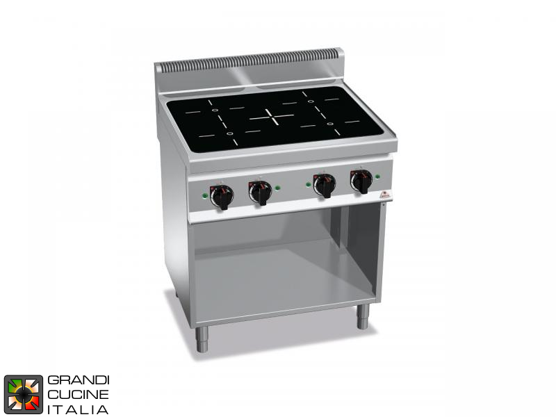 Induction Electric Stove - 4 Zones - Open Cabinet