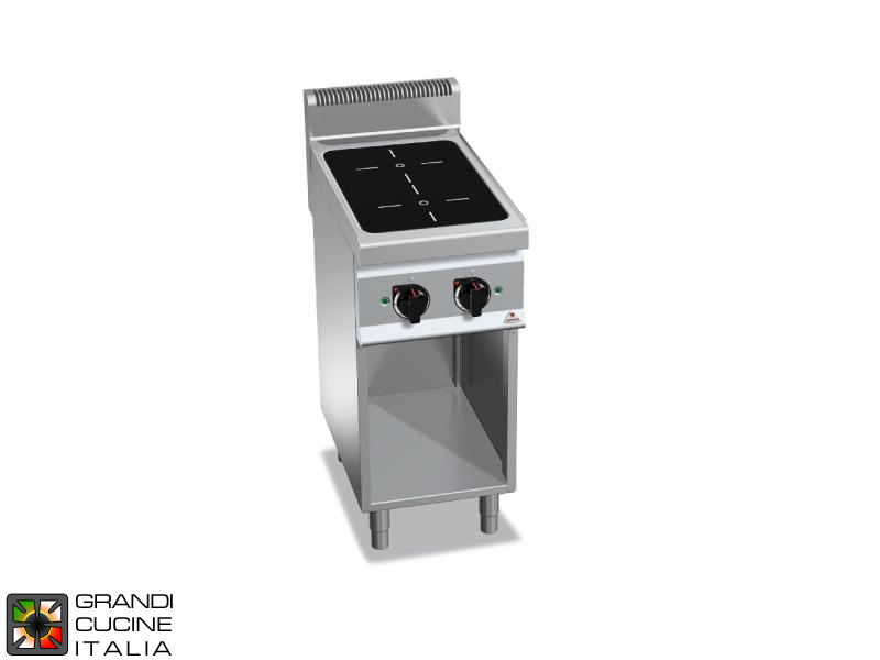 Induction Electric Stove - 2 Zones - Open Cabinet