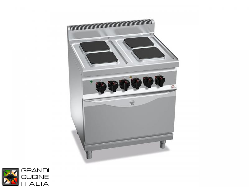 Electric Stove - 4  Square Plates - Static Electric Oven GN 2/1