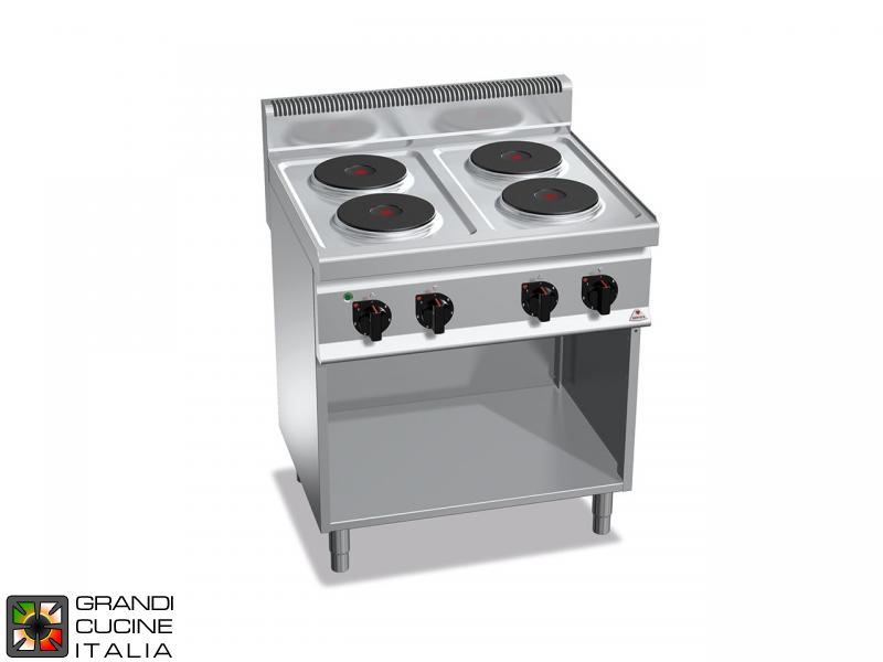 Electric Stove - 4  Round Plates - Open Cabinet
