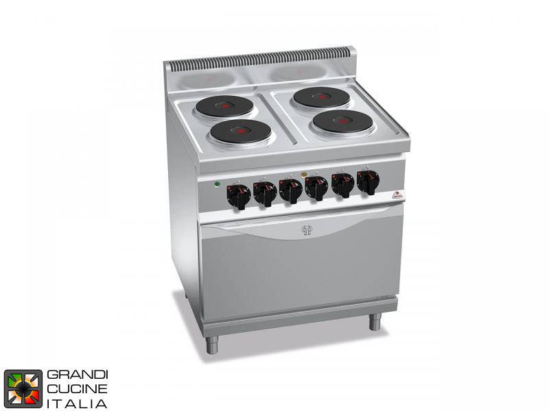 Electric Stove - 4  Round Plates - Static Electric Oven GN 2/1