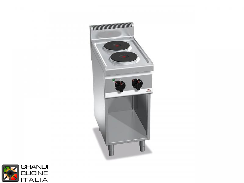 Electric Stove - 2  Round Plates - Open Cabinet