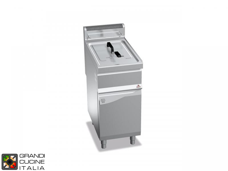 Gas Fryer - 1 Tank - Open Cabinet - Direct Heating - Capacity 20 Liters