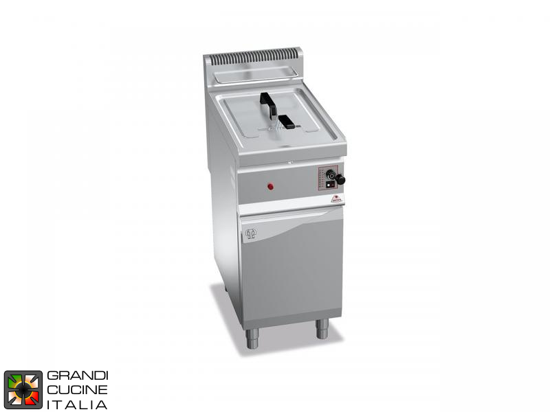 Gas Fryer - 1 Tank - Open Cabinet - Direct Heating - Capacity 10 Liters