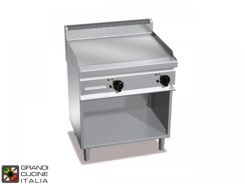 Electric FryTop - 2 Zones - Open Cabinet - Smooth Plate