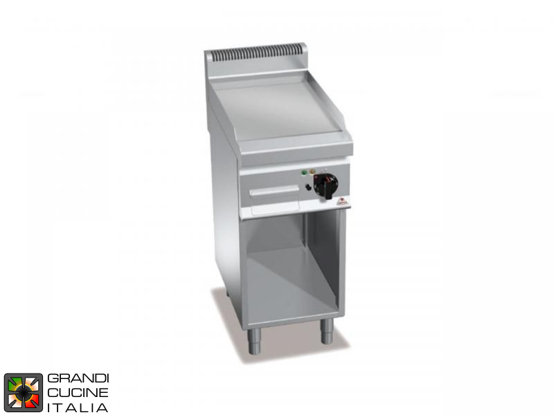 Electric FryTop - 1 Zone - Open Cabinet - Smooth Plate
