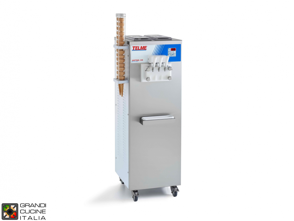 Soft ice cream -  Ability 2x8 Lt - hourly production cones 360