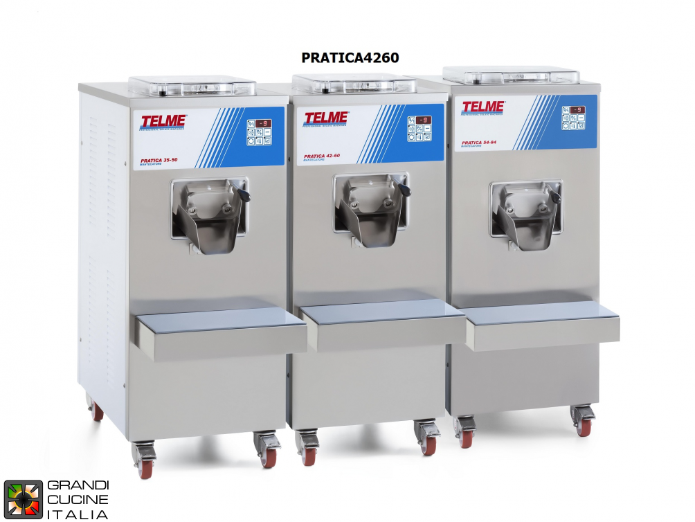 Batch freezer Capacity 4-8 Lt. Hourly production 60 - 400/50/3 air