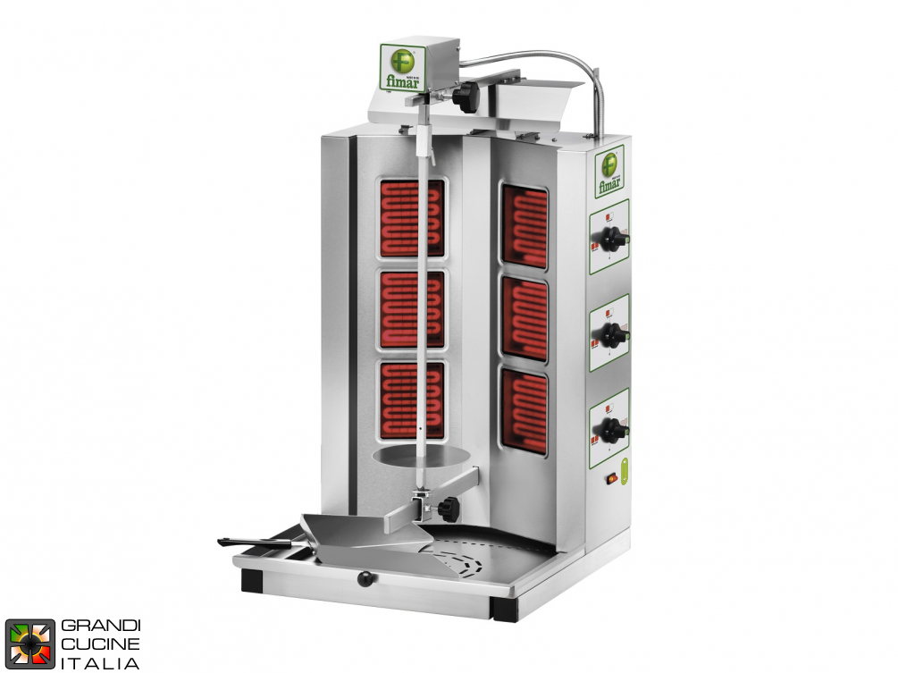 Gyros kebab electric capacity Kg. 10/30