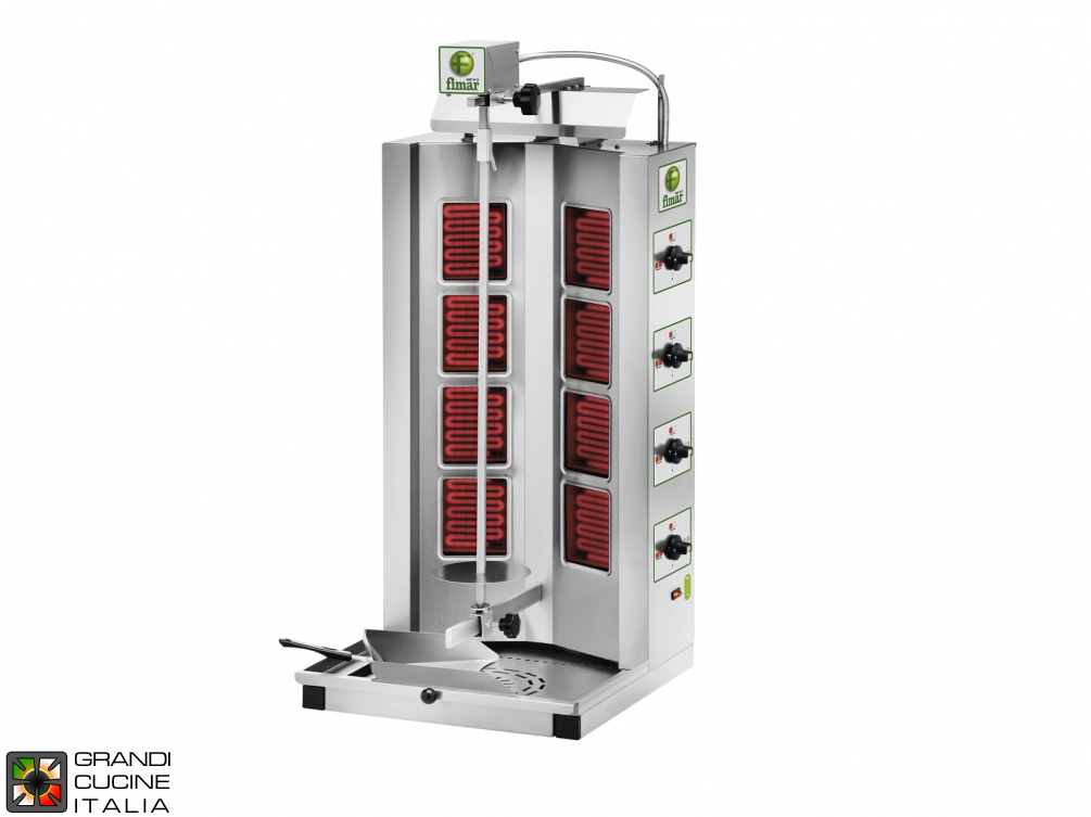 Gyros kebab electric capacity Kg. 30/65