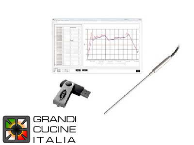 UNOX.Link with extra fine sous-vide core probe