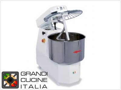 Spiral Mixer with tilting head dual speed 33lt-Tf