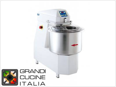 Spiral mixer with fixed head TOP -  40lt-Tf