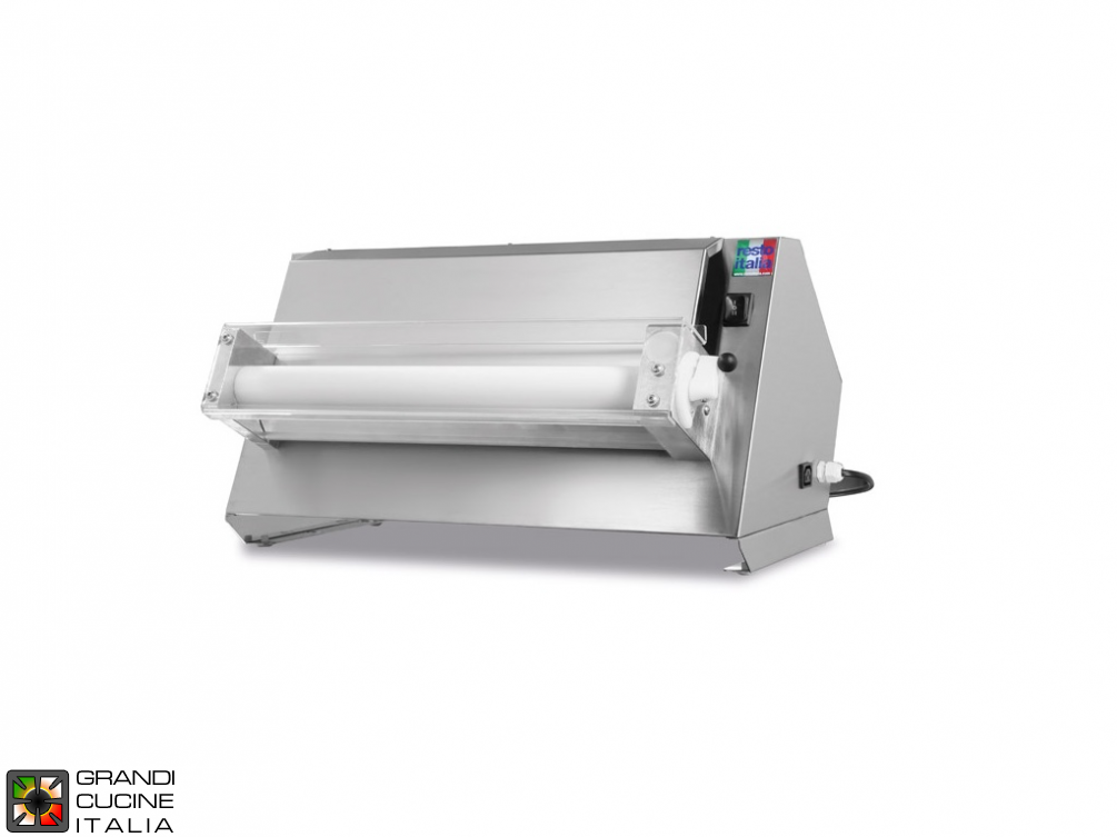 Pizza dough roller  in stainless steel  - SPR UNO line - Roller Cm 50 - Dough weight gr. 210/700
