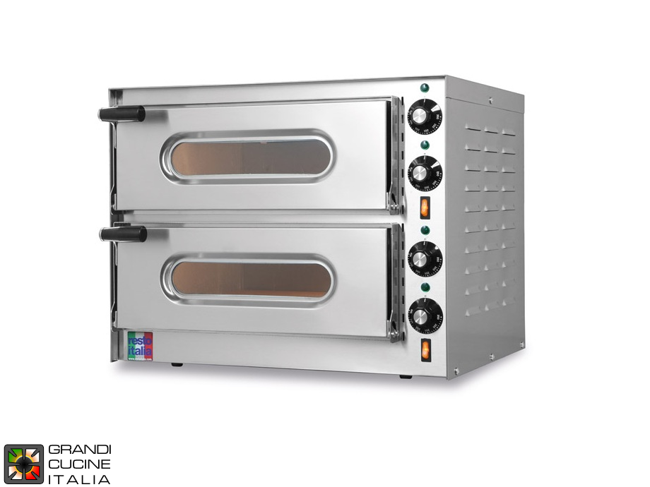 "Electric static Oven ""SMALL"" - Double Chamber - Internal Dimensions Cm 41x36x11h"