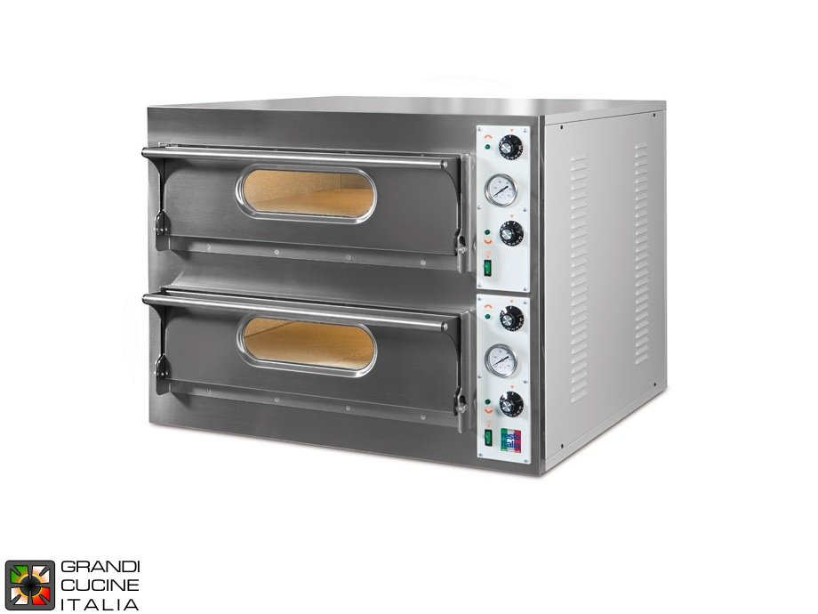 "Electric Static Oven ""START66BIG/L"" - Double Chamber - Internal Dimensions Cm 108x72x14h"