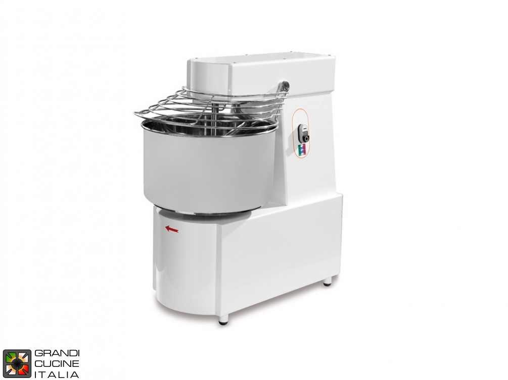 Spiral Dough Mixer with fixed head  SK line - three phase 2 speed 32Lt.